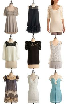 Love the tunic top in the bottom right corner! (Tutorial is for a shirt similar to the diy lace tee tunic top. Which is just meh. To me.)
