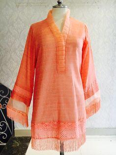 Asifa&Nabeel Eid Outfits, Pakistani Outfits, Simple Dresses, Casual Dresses, Fashion Dresses, Kurtha Designs, High Collar Blouse, Eastern Dresses, Pakistan Fashion