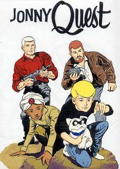 Jonny Quest  (1964-1965):  Hanna-Barbera animated adventure TV series, Benton Quest, Hadji, Race Bannon, Bandit the dog, Mystery of the Lizard Men, Arctic Splashdown, Curse of Anubis, 26 episodes.