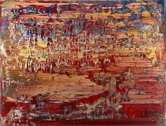 "socialclaustrophobia: ""Gerhard Richter (German, b. 1932), Abstraktes Bild (707-3), 1989. Oil on canvas, 24 ⅛ × 32 in (62.2 × 82.6 cm). via """