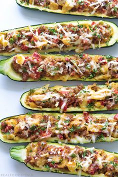 Zuchinni Boats via Real Food by Dad