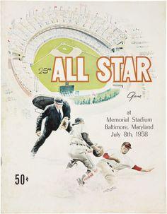 1958 Baseball All Star Game Program