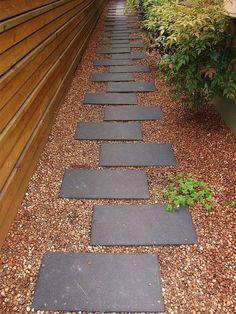 caminho jardim em pedra