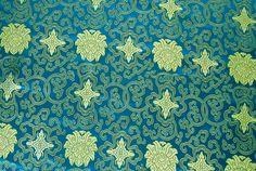 Stoff Ornamente - 120 x 130 CM ! Herrliche Brokat Stoff gewebt feine - ein Designerstück von e_bou1 bei DaWanda