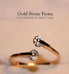 B617 Handmade Dainty Delicate Stackable Thin 18K by GoldStoneFiona, $19.00
