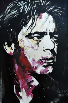 Benicio del toro acrylic painting