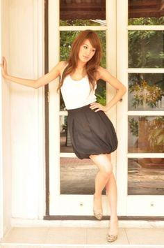 High Waist Skirt Mini Soft Chiffon Pleat by andwhatelseisthere, $63.00