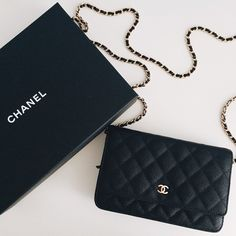 Chanel Quilted Caviar with Gold Hardware WOC