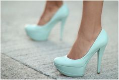 Light blue shoes on your wedding day would be so cute! A little something blue