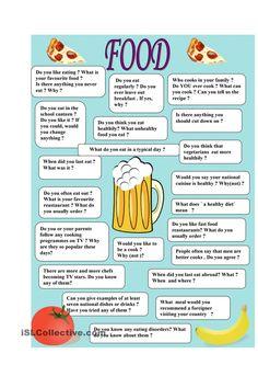 Food - speaking