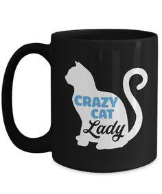 Shirt White Crazy Cat Lady for Cute Cat Best Friend Forever Coffee Mug 15oz Black