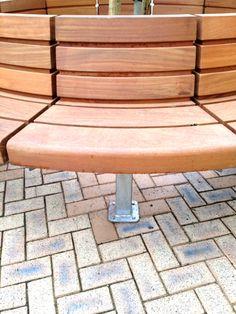 Westbrook Seat, Circular Seat, Tree Seat, Woodscape, Bespoke, Hardwood, Seat, Bench, Curved Seat, Straight Seat, Innovative, Hardwood, Timbe...