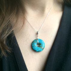 Your place to buy and sell all things handmade Turquoise Pendant, Turquoise Gemstone, Turquoise Earrings, Bethany Rose, Etsy Crafts, Rose Design, Stone Necklace, Everyday Outfits, Sterling Silver Chains
