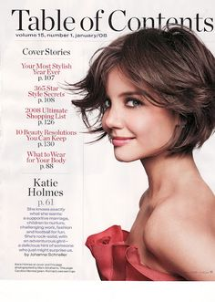 Katie Holmes short hair. had my hair cut like this once. LOVED IT