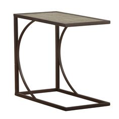 Go modern with a geometric, asymmetrical end table. Calligraphy Side Table | Weekends Only Furniture and Mattress