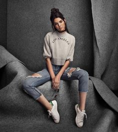 """Kendall for Kendall and Kylie's """"Golden Child"""" Pacsun collection."""