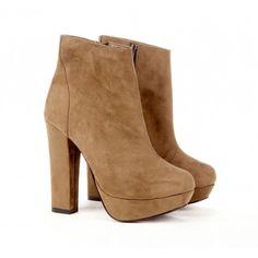Josslyn platform ankle booties :)
