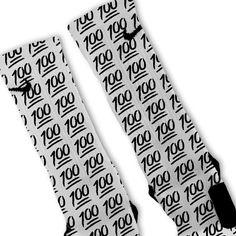 Keep It 100 Emoji Custom Nike Elite Socks – Fresh Elites