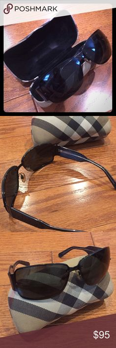 Burberry Sunglasses Black Burberry sunglasses. Small scratch from outside on the left eye, not noticeable from inside. Case included! Burberry Accessories Sunglasses