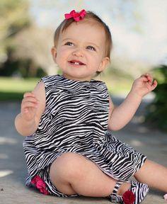 Ruffle Butts Zebra Swing Top Black White Stripe Baby Girl 3 Toddler NWT Clothing #RuffleButts #DressyEveryday
