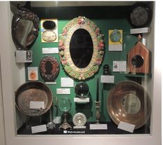 A display of some of the scrying mirrors and other scrying tools photographed by us the Museum of Witchcraft, Boscastle, Cornwall Wiccan Witch, Magick, Witch History, Christian Mysticism, Traditional Witchcraft, Magical Images, Hedge Witch, Demonology, Witches Brew