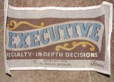Vintage Gemini Needlepoint Kit Executive Specialty In Depth Decisions 1977 Open #Gemini