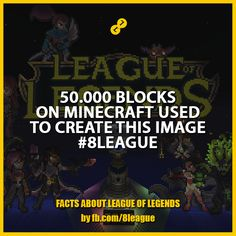 League Of Legends, Minecraft, Facts, Create, Movies, Movie Posters, Image, Films, League Legends