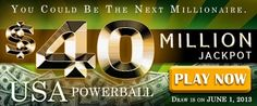 USA Powerball Rollover: US$ 40M on June 01