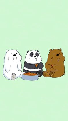 Cute Panda Wallpaper, Bear Wallpaper, Cute Disney Wallpaper, Cute Wallpaper Backgrounds, Wallpaper Iphone Cute, Dont Touch My Phone Wallpapers, We Bare Bears Wallpapers, Panda Wallpapers, Cute Cartoon Wallpapers