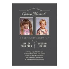 Old Photos Engagement Party Invitations