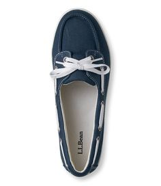 Women's Canvas Deck Shoes, Two-Eye