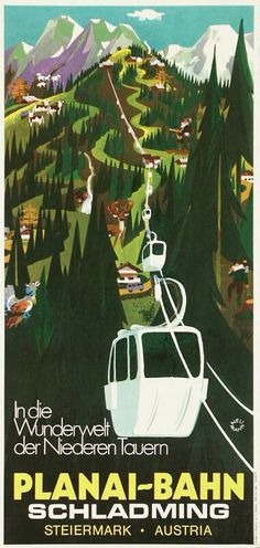 Schladming, Vintage Austria Vintage Ski Posters, Cool Posters, Tourism Poster, Indie, Travel Images, Vintage Advertisements, Illustrations Posters, 1, Retro