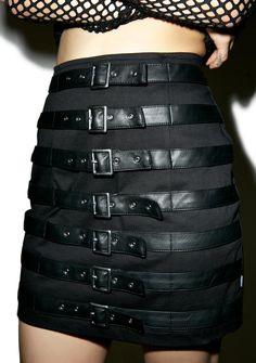 Tripp NYC Buckle Up Skirt