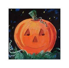 SMILING PUMPKIN Original Halloween Art by by artbyrodriguez, $40.00
