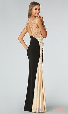 Sheer High Neck Sleeveless Gown JVN by Jovani  at PromGirl.com