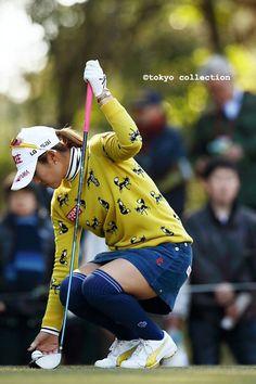 Over Knee Socks, Thigh High Socks, Girls Golf, Ladies Golf, Girl Golf Outfit, Golf Attire, Golf Wear, Golf Player, Fashion Tights