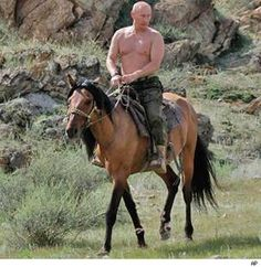 Now that's a real leader - Vladmir Putin on a horse #lad