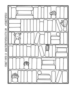 Books Ive Read Tracker - This is meant to List and Track all the books you want to Read and All the Books You have Read - Write the books you want to Read on the drawn book Spines - When you have finished reading a Book, simply Color in the Book Spine to indicate completion! - You can add any Extra Details/doodles to the Books and Bookshelf to personalize it! - Sized at 5x6.5 (WxH) Great for most any planner