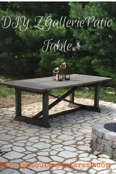 Build an easy but elegant ZGallerie Rencourt patio table.