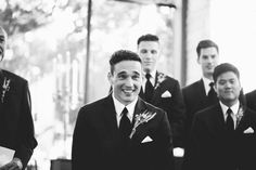 Seeing his bride for the first time | Lauren Apel Photography