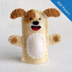 Dog dog puppet pattern dog finger puppet by KRFingerPuppets
