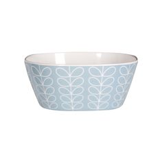 Make a sophisticated addition to your kitchen with the Linear Stem small bowl from Orla Kiely. In an attractive shade of blue, this small bowl features the signature Linear Stem print. Made from durab Orla Kiely, White Gloss Kitchen, Cereal Bowls, Get The Look, Tableware, Small Bowl, Stars, Dinnerware, Tablewares