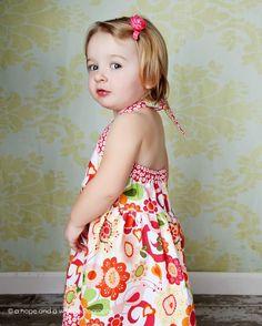 Halter Dress Pattern  Sweet Summer Halter Dress for by tiedyediva, $8.00