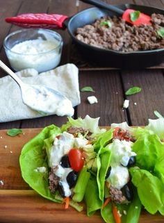 Greek Lettuce Wraps | Clean Eats For My Sweets