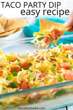 No party is complete without this Classic Taco Dip recipe, Simple to prepare, and a crowd favorite, you will be making this time and time again!