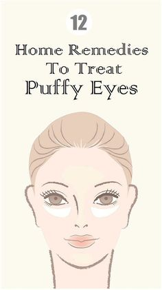12 fabulous home remedies for your #puffyeyes and those under eye bags.