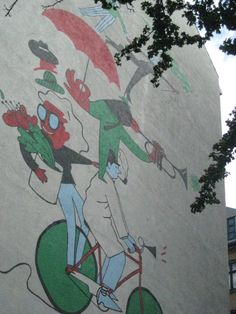 Biking in Nansensgade, #Copenhagen (by streetartlovers.com)