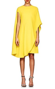 Calvin Klein Women's Silk-Wool Asymmetric T-Shirt Dress-Yellow Cape Dress, Silk Dress, Silk Wool, Calvin Klein Dress, Calvin Klein Women, Ladies Dress Design, Buy Dress, Yellow Dress, Designer Dresses