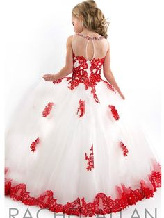 Ball Gown 2015 Girls Pageant Dresses  High Collar Blue Green Red Beaded Baby Little Tutu Flower Girls Dresses For Wedding