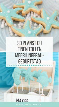 Ein Kindergeburtstag zum Thema Meerjungfrau mit Essen, Deko, Torte und vielen DIY Ideen zum Basteln.